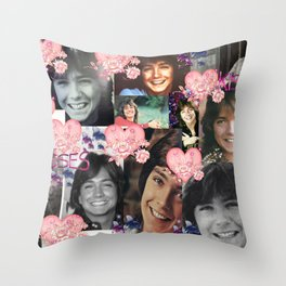 David Cassidy - Butterfly Kisses N Hearts Throw Pillow
