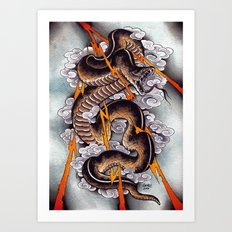 Lightning Cobra Art Print