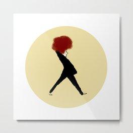Lady Red Metal Print