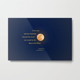"""January Blue Moon"" with poem: Any Mysteries Metal Print"