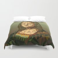 mona lisa Duvet Covers featuring Mona Lisa GeoCon by John Harman