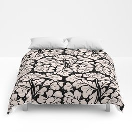 Barroco pink and black Comforters