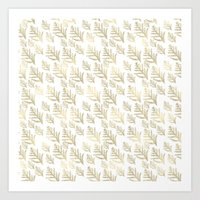 Chic Gold Leaves Art Print