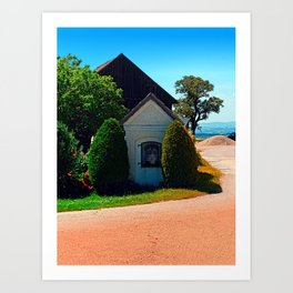 Traditional wayside chapel ensemble Art Print