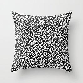 Staklo (Black) Throw Pillow