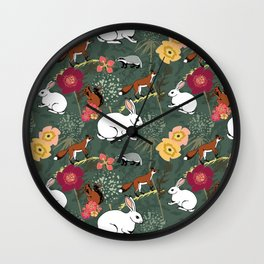 Woodland Excitement Wall Clock