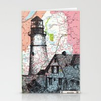 maine Stationery Cards featuring Maine by Ursula Rodgers