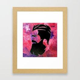 Palette Knife Beard Framed Art Print