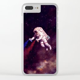 """""""Shooting Stars"""" - Astronaut Artist Clear iPhone Case"""