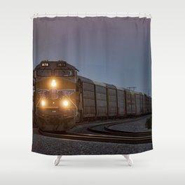 Twilight Freight Train Shower Curtain