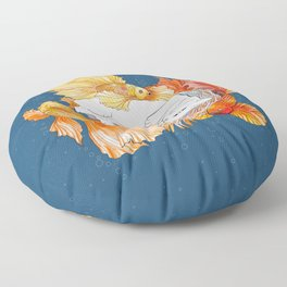 Cat dreams Floor Pillow