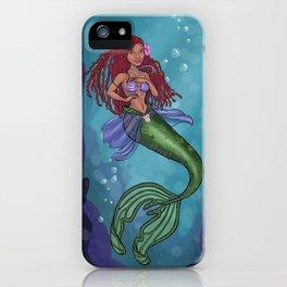 Modern Little Mermaid iPhone Case