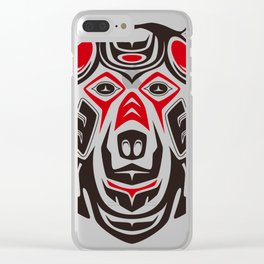 Tribal grizzly (haida Clear iPhone Case