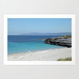 White sandy beach at the Aran Islands Art Print
