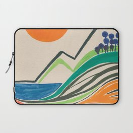 Landscape in many colours and lines Laptop Sleeve