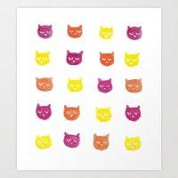 Color Cats Art Print