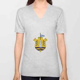 Flag of Cordoba, Argentina Unisex V-Neck