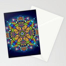 Psychedelic Mandala Visionary Art - Night Circus Stationery Cards
