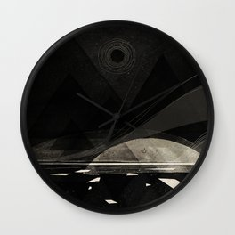 the white shore Wall Clock