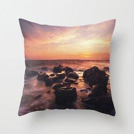 Sprayed In Sunset Throw Pillow