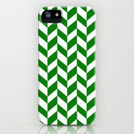 HERRINGBONE (GREEN & WHITE) iPhone Case