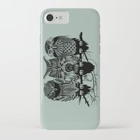 solid iPhone & iPod Cases featuring Owls of the Nile by Rachel Caldwell