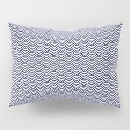 Japanese Koinobori fish scale Delft Blue Pillow Sham