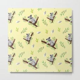 Koala Pattern #2 Metal Print
