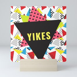 Retro Yikes Mini Art Print