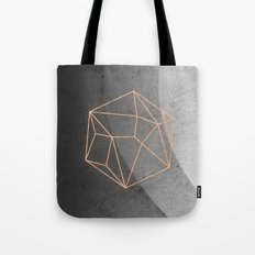 Geometric Solids on Marble Tote Bag