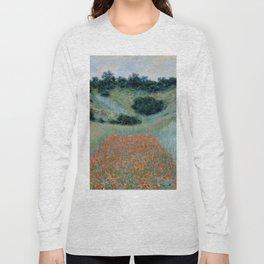 "Claude Monet ""Poppy Field in a Hollow near Giverny"" Long Sleeve T-shirt"