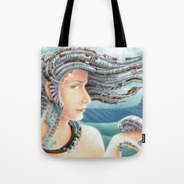 Portrait by the sea 2 Tote Bag
