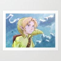 The legend of Zelda - Link kid Art Print