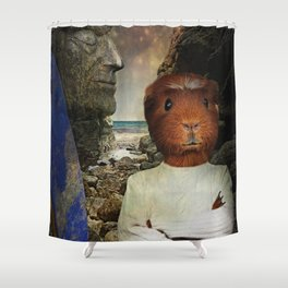 Hang Ten Hamster Shower Curtain