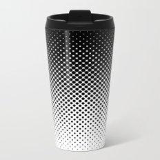 Halftone Gradient Metal Travel Mug