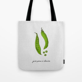 Give Peas A Chance, Kitchen Decor Tote Bag