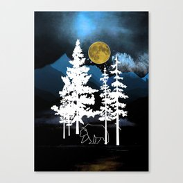 Full Moon Rising II Canvas Print