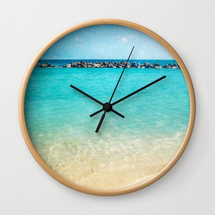 Blue Curacao Wall Clock