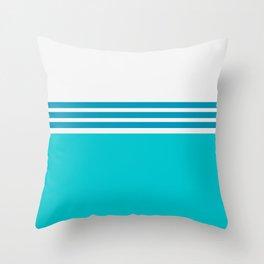 Modern Minimal Striped Blue 06 Throw Pillow