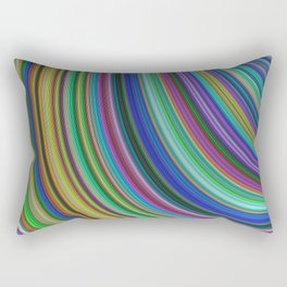 Striped fantasy Rectangular Pillow