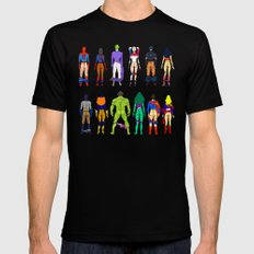 Superhero Power Couple Butts Mens Fitted Tee Black MEDIUM