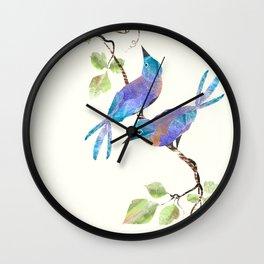 Two Blue Birds Wall Clock