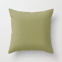 Khaki Puffy Stitched Quilt Fabric Throw Pillow