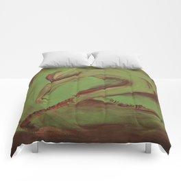 Dancer green Comforters