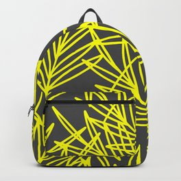 Leaves in yellow and Gray shape  Backpack