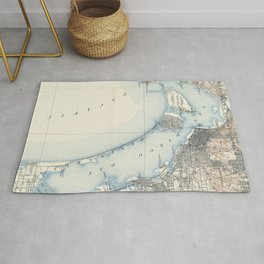 Vintage Map of San Diego California (1902) Rug
