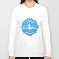 pivot Long Sleeve T-shirts featuring Olaf's skating Team by Une Belle Pagaille
