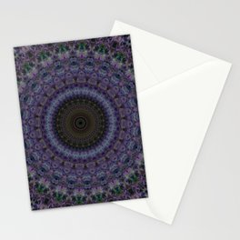 Mandala in blue and violet Stationery Cards