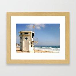 Laguna Beach Lifeguard Tower Framed Art Print