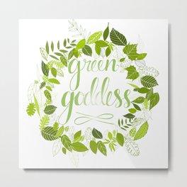 Green goddess - Emerald Metal Print